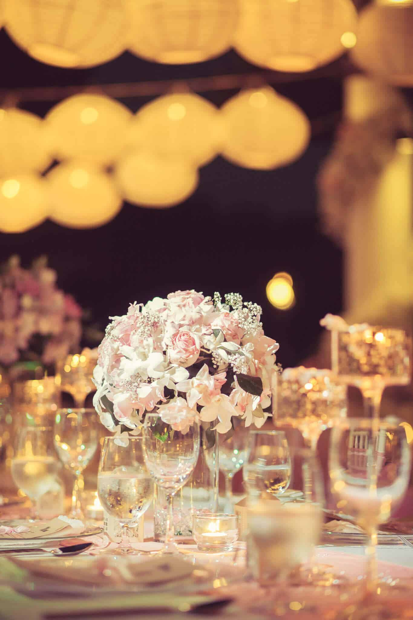 Villa Wedding Phuket Reception Table