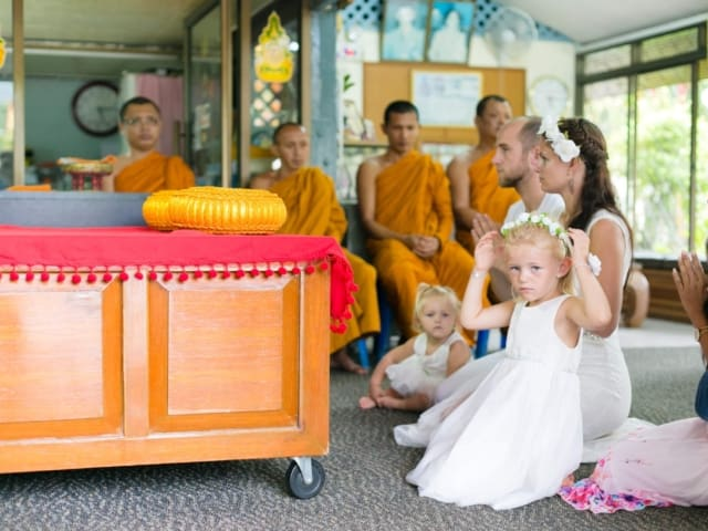 Thai Monks Wedding Blessing Phuket Thailand