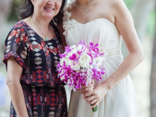 Bride and Mother - Bride and Groom Wedding Photography Wedding Planners Phuket Thailand