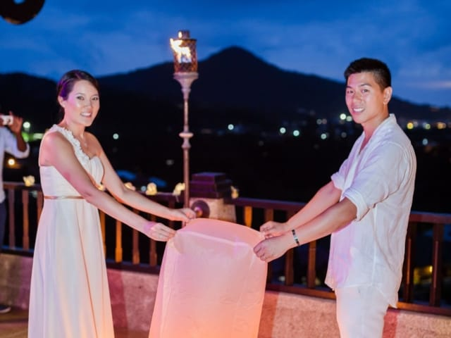 Floating Love Lantern Phuket Thailand