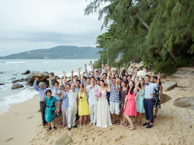 Beach Wedding Guests Phuket Thailand