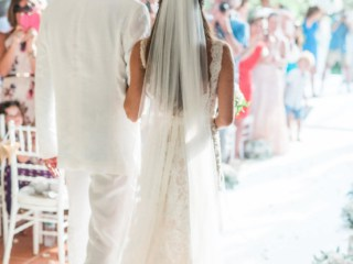 Walking down the Aisle Villa Wedding Phuket Thailand