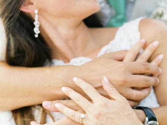 Bride and Groom Kiss Wedding Phuket Thailand