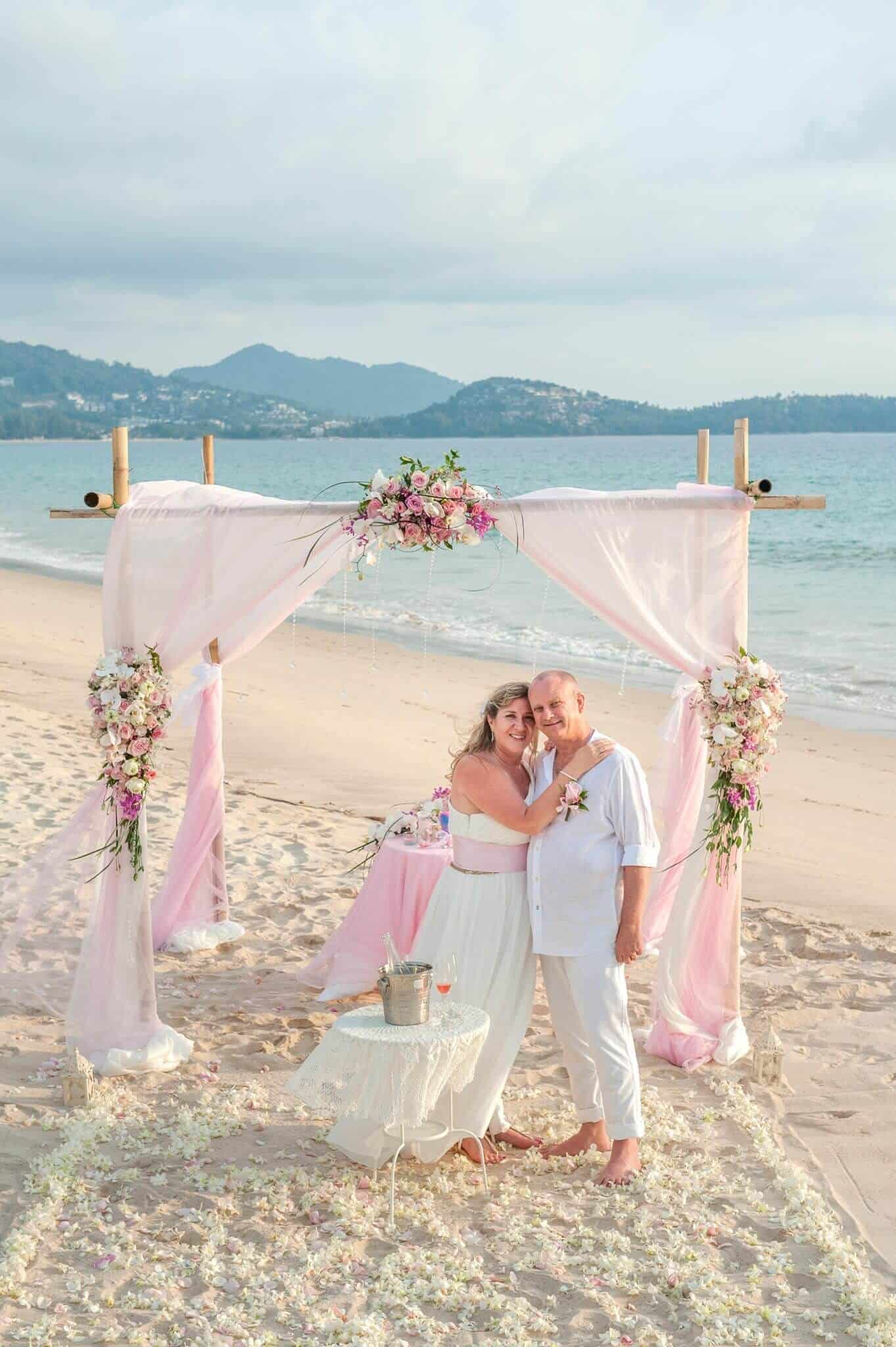 phuket beach wedding vow renewal
