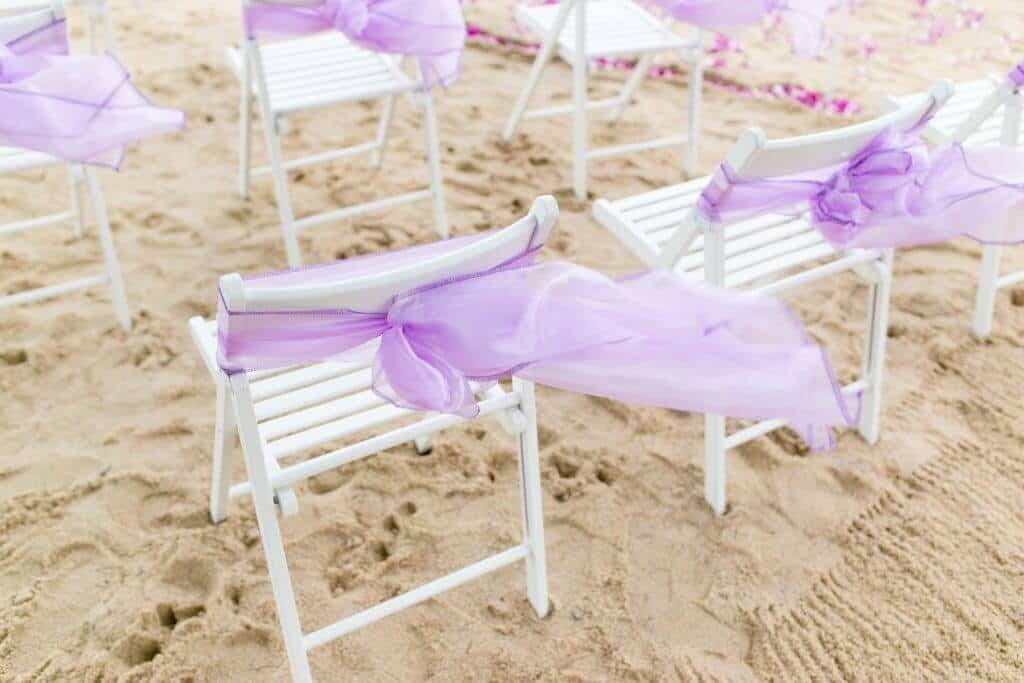 Beach Wedding Chair Sash Phuket Thailand