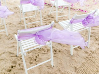 Beach Wedding Chair Sash Phuket Thailand