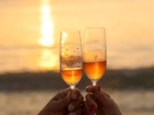 Sunset Champagne - Phuket Romantic Beach Marriage Ceremony (43)