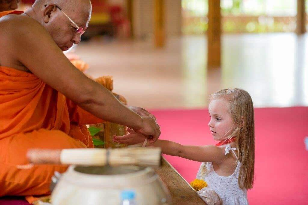 Thai Monks Blessing