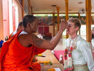 Thai Monks Wedding Blessing (7)