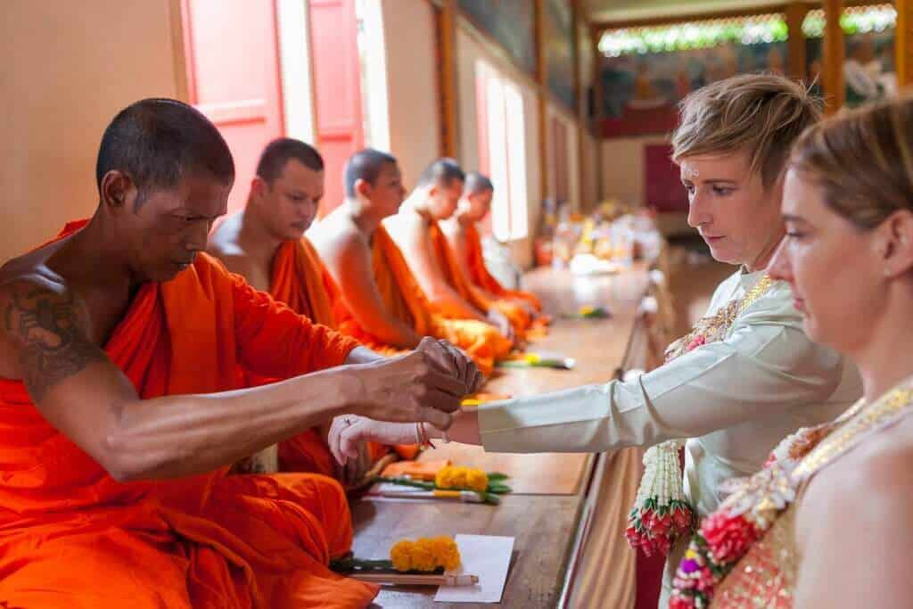 Thai Monks Wedding Blessing