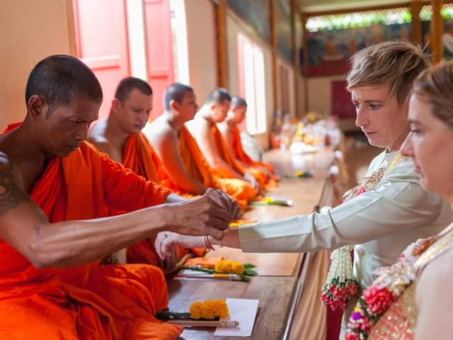 Thai Monks Wedding Blessing (9)