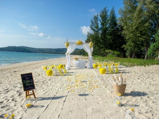 Phuket Beach Wedding Beach Reception 1