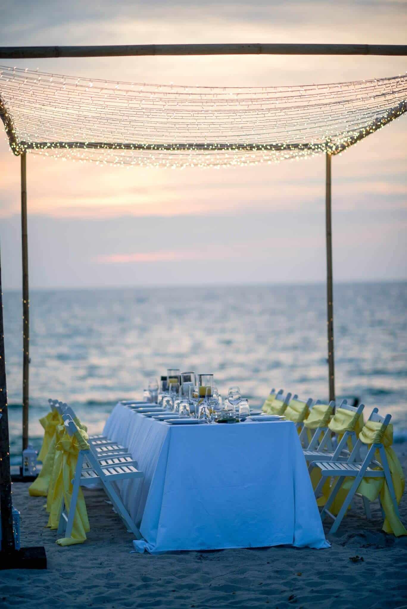 Phuket Beach Wedding Beach Reception 22