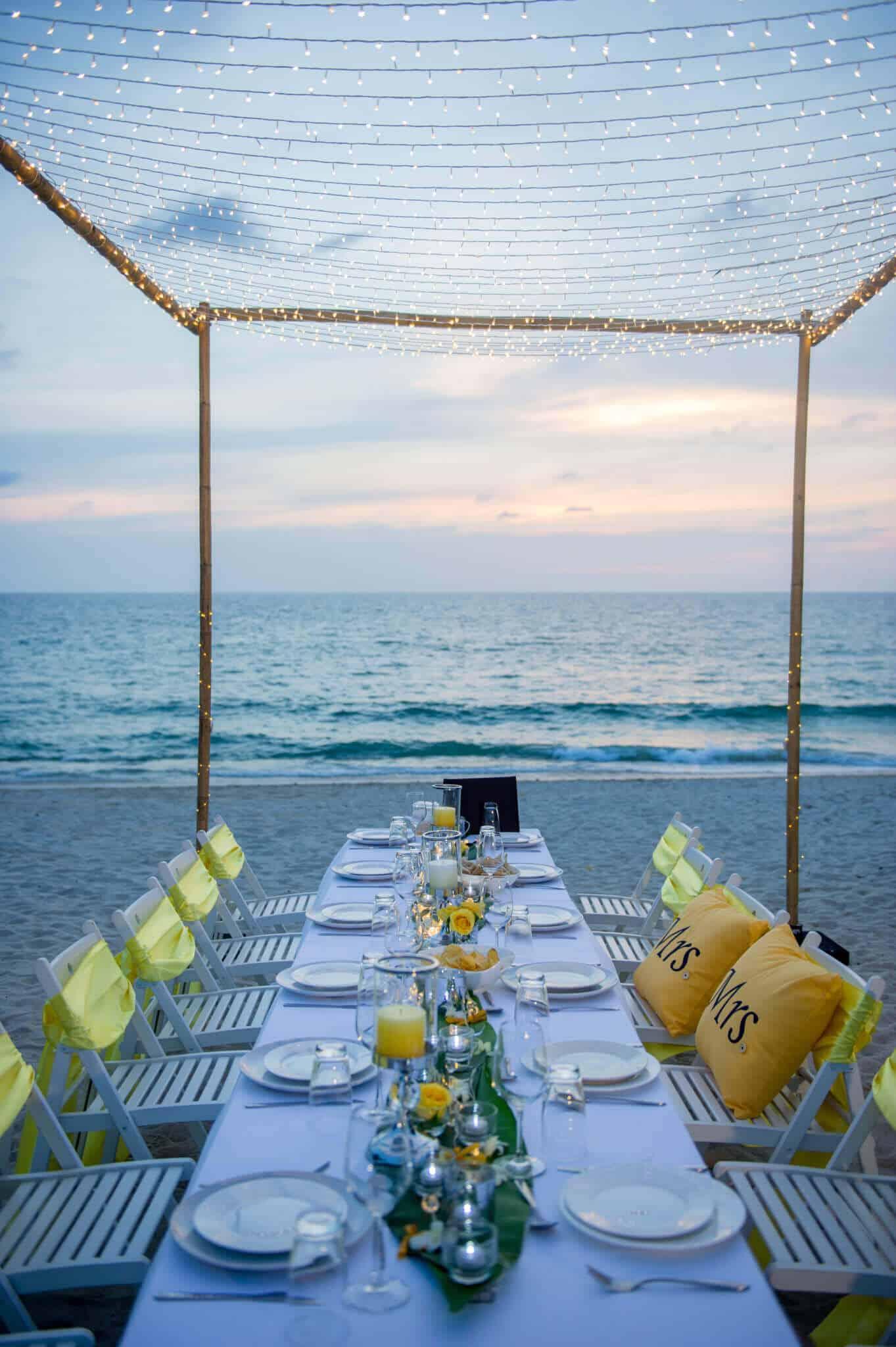 Beach Wedding Reception - Phuket Beach Wedding Beach Reception 26
