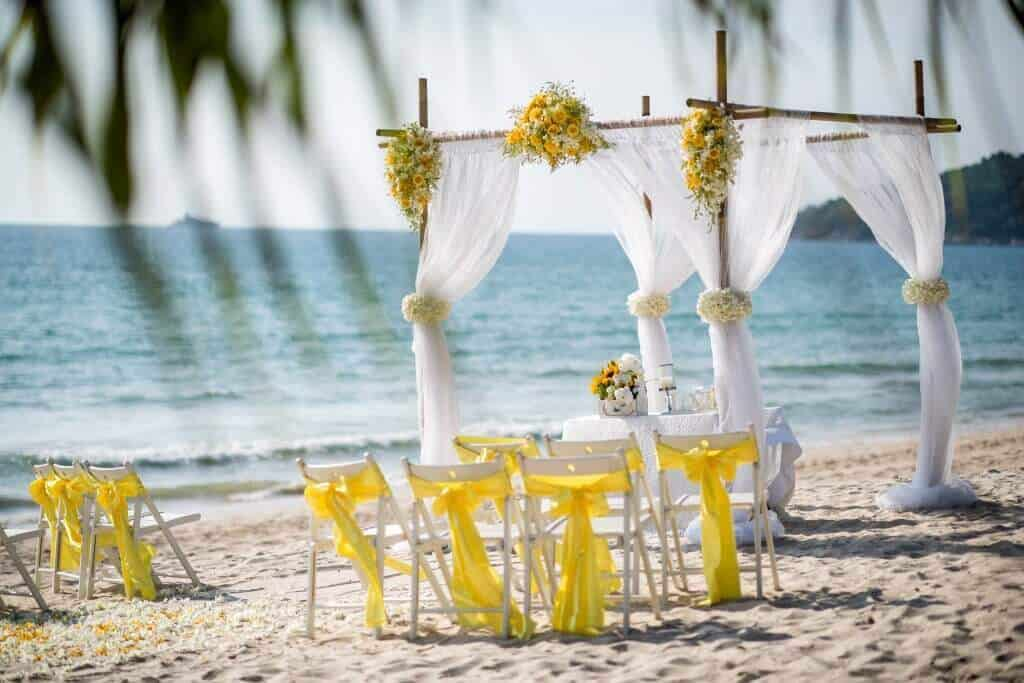 Phuket Beach Wedding Beach Reception 4