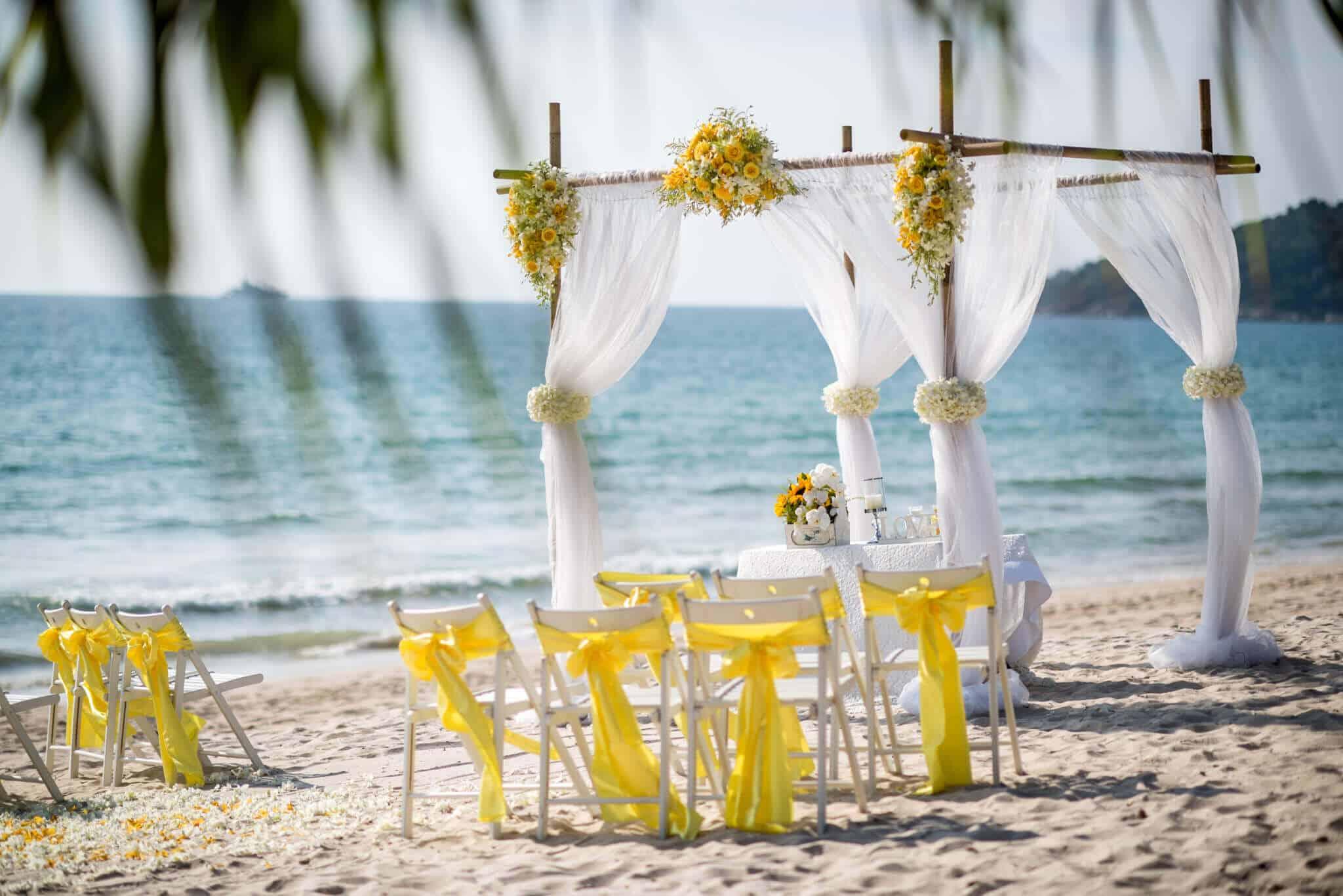 Phuket Beach Wedding Beach Reception 4