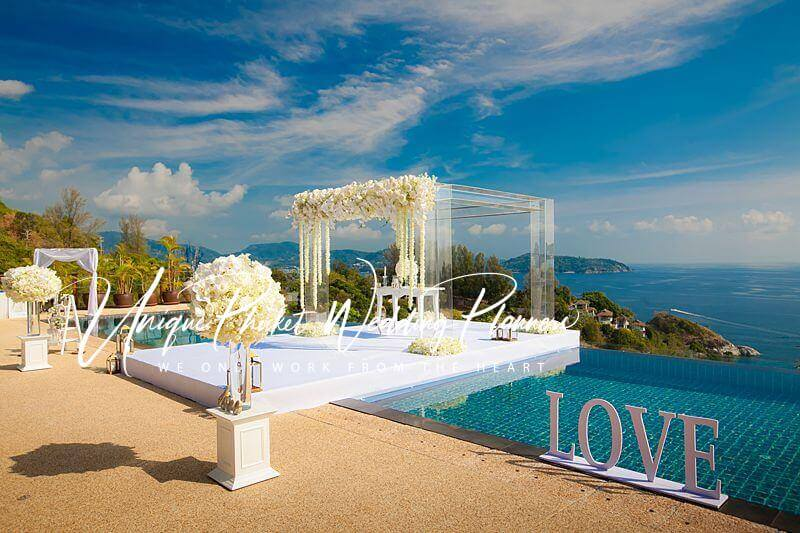 Villa Aye poolside wedding