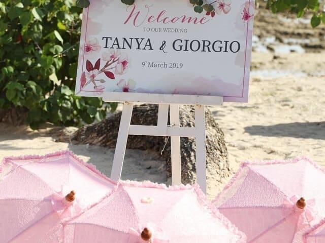 Tanya & Giorgio Beach Wedding 9th March 2019, Thavorn Beach Village 3 Unique Phuket