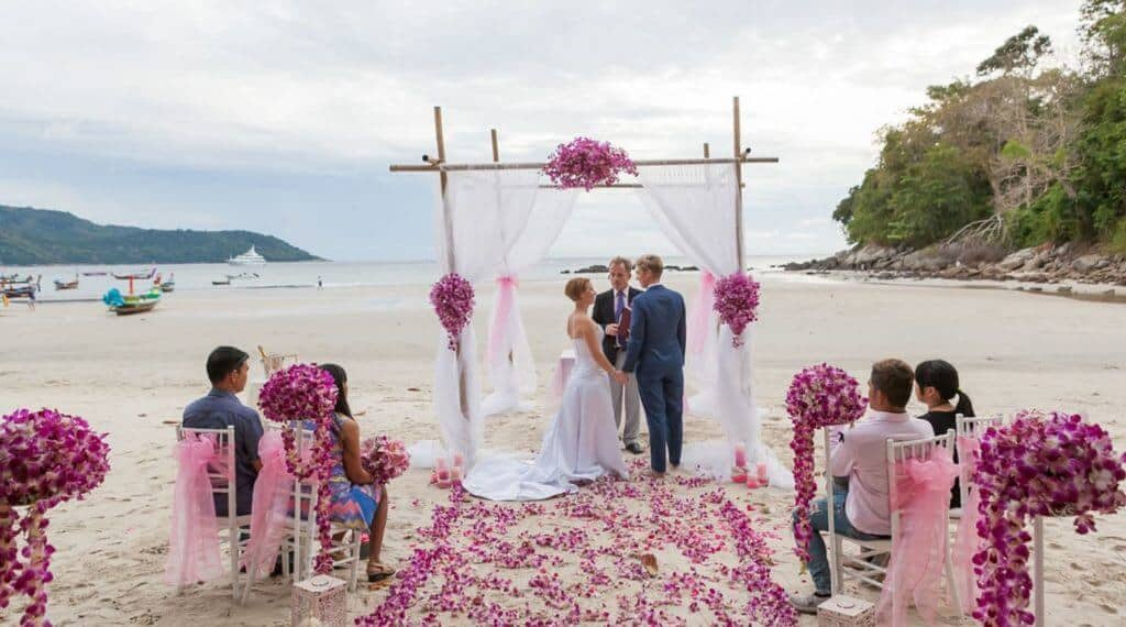 lesbian beach wedding in phuket thailand