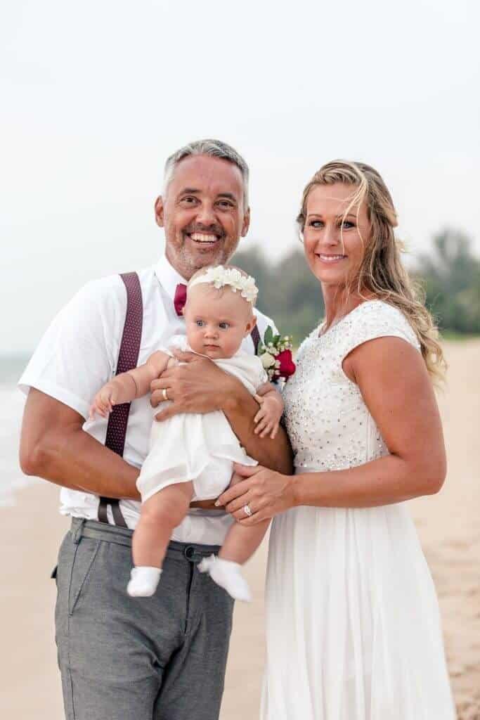 Gina & Hasse Beach Wedding 20th Jan 2020 Aleenta Resort Phang Nga 275