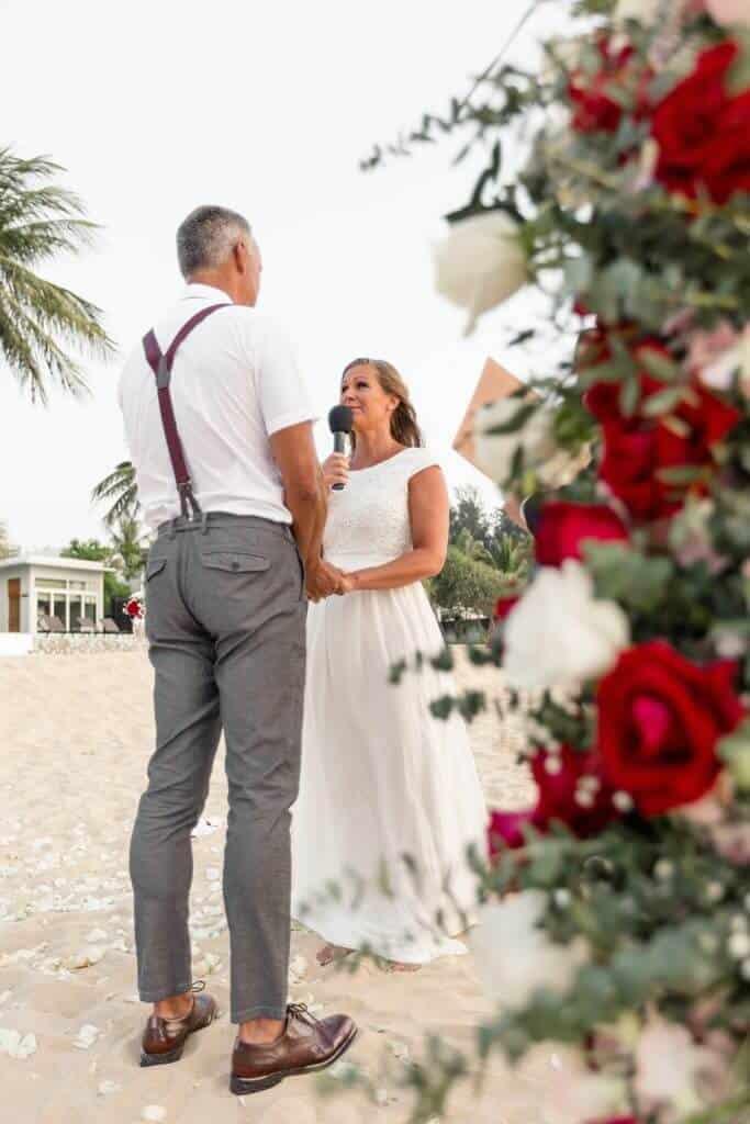 Gina & Hasse Beach Wedding 20th Jan 2020 Aleenta Resort Phang Nga 90