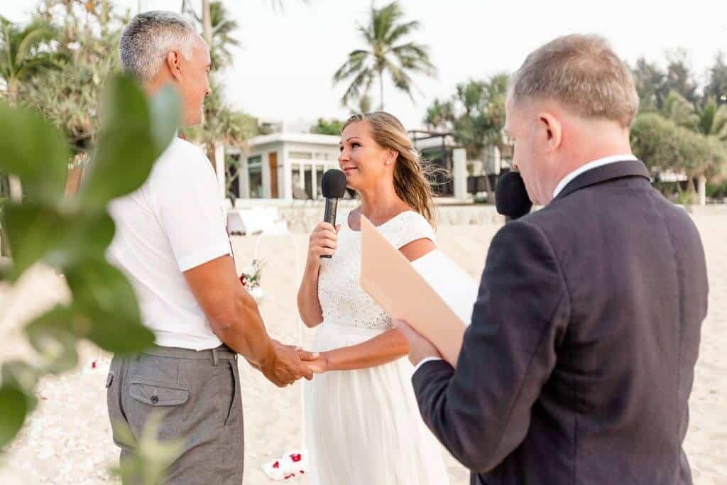 Gina & Hasse Beach Wedding 20th Jan 2020 Aleenta Resort Phang Nga 92